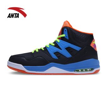 ANTA New style cushioning wear and sports shoes basketball shoes (Black/charm blue/Purple Rose/flourescent green) Price Philippines