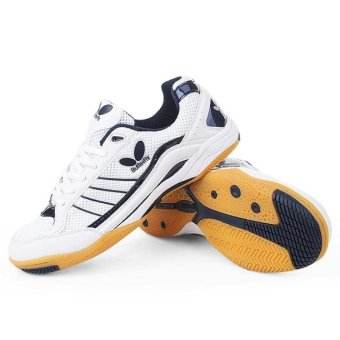 Anti-skid Wear-resistant Breathable Training Competition Niu Tuo AtThe End of Leisure Running Table Tennis Badminton Sports Shoes -intl