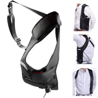 Anti Theft Armpit Cross-package Men Security Holster Strap Messenger Bags Underarm Phone Burglarproof Shoulder Bag - intl