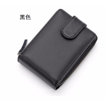 Anti theft genuine handbag Multifunctional document Card set fashion men and women wallet Driving document clip - intl