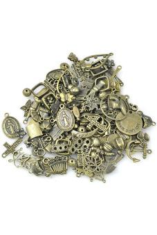 Antique Brass Tibetan Charms Beads Findings Mix