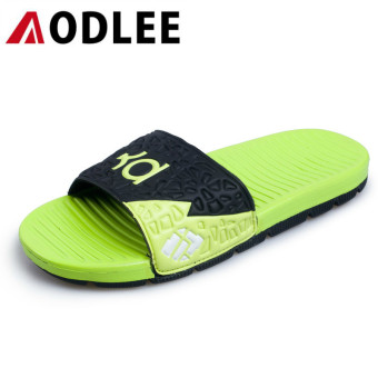 AODLEE Fashion Men Sandals Slippers Slides Footwear Casual Shoes Breathable Green - intl