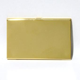 Armani Exchange Thin Aluminum Card Holder (Gold) - 4