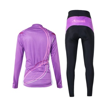 Arsuxeo Women's Outdoor Breathable Comfortable Long Sleeve CyclingClothing Set Cycling Jacket Padded Pants Riding Sportswear - intl - 3