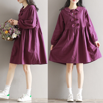 Art Linen autumn New style dress