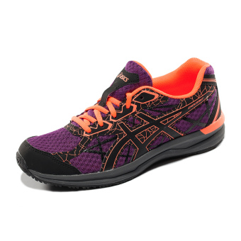 ASICs t792n-3290 non-slip breathable wear and cross-country running shoes (Deep Purple/Black/coral color)