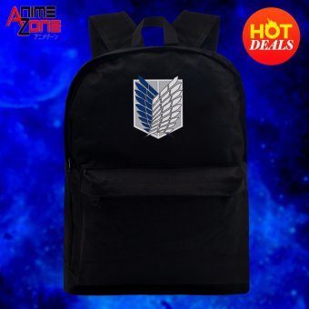 Attack On Titan Anime Unisex Everyday Backpack (Black) Price Philippines