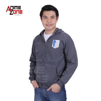 Attack On Titan Anime Unisex Zip-Up Hoodie Jacket (Grey)