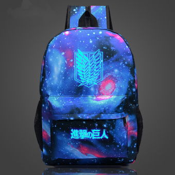 Attack on Titan Wings of Liberty soldiers long Noctilucent backpackschoolbag