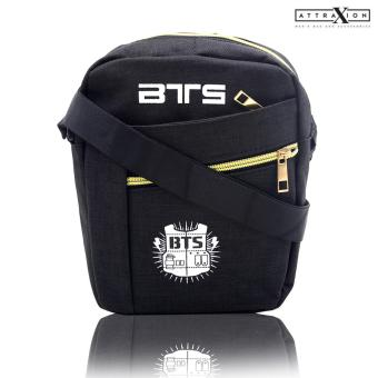 Attraxion BTS - 1722 Sling Crossbody Bag for Men (Black)