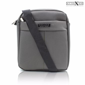 Attraxion Chado Sling Crossbody Bag for Men (Gray)