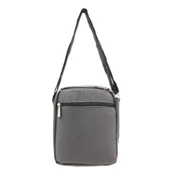 Attraxion Chado Sling Crossbody Bag for Men (Gray/Black) - 4