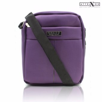 Attraxion Chado Sling Crossbody Bag for Men (Violet)