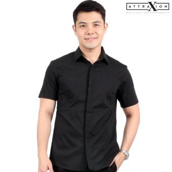 Attraxion Dean Embroidered Pattern Polo for Men (Black) - 3