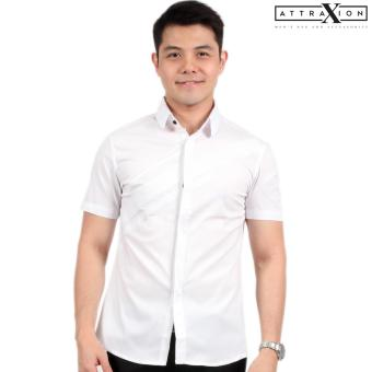 Attraxion Dean Embroidered Pattern Polo for Men (White)