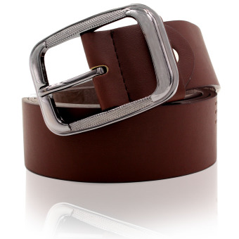 Attraxion Dustin 081 Genuine Leather Basic Belt for Men (Brown)