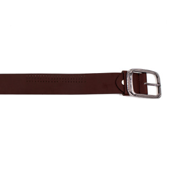 Attraxion Dustin 081 Genuine Leather Basic Belt for Men (Brown) - 2