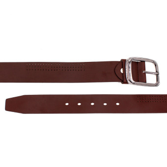 Attraxion Dustin 081 Genuine Leather Basic Belt for Men (Brown) - 3