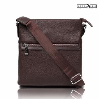 Attraxion Frank Leather Sling CrossBody Bag for Men (Brown) Price Philippines