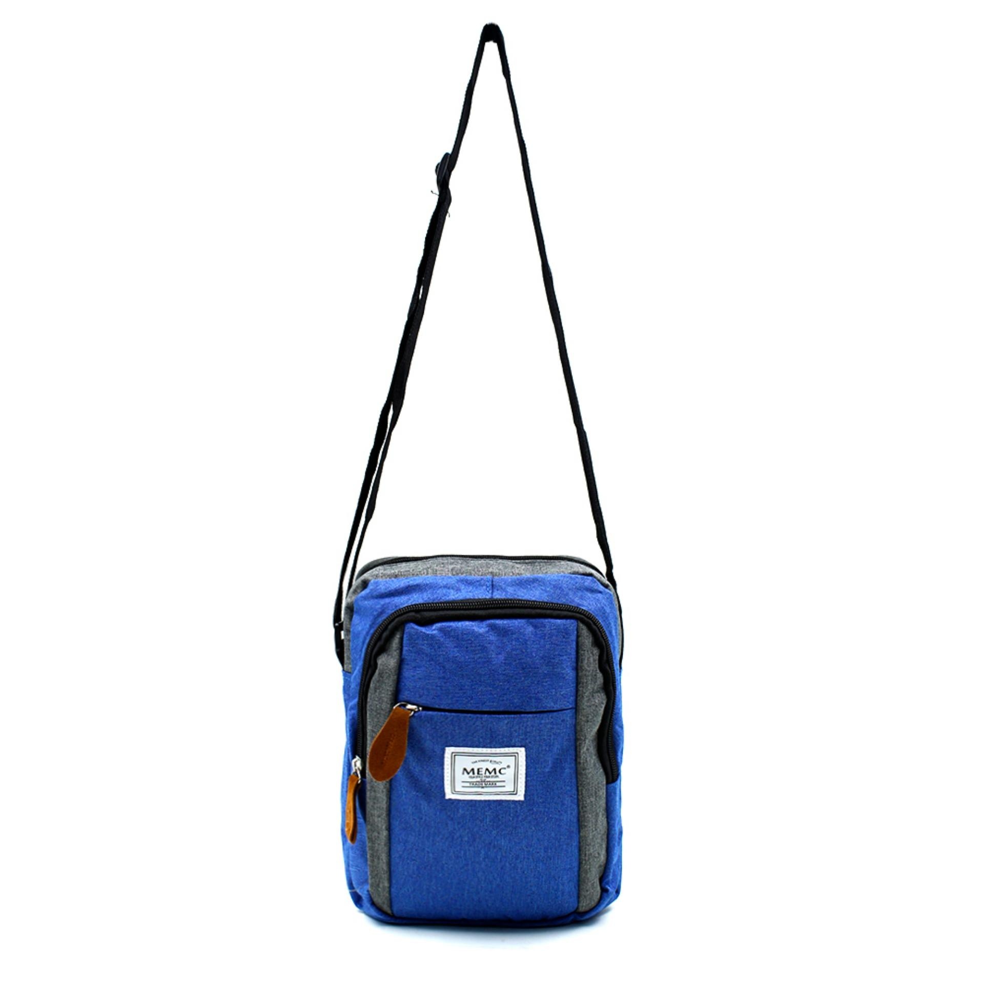 Attraxion Gideon - 1217-1 Sling Crossbody Bag for Men Gray Multicolored (Blue)