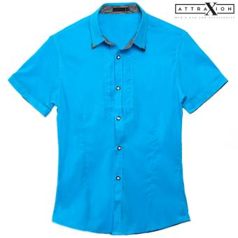 Attraxion Malcolm Plain Polo for Men (Blue)