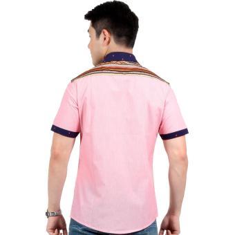 Attraxion Norman Bohemian Stripe Polo for Men (Pink) - 3