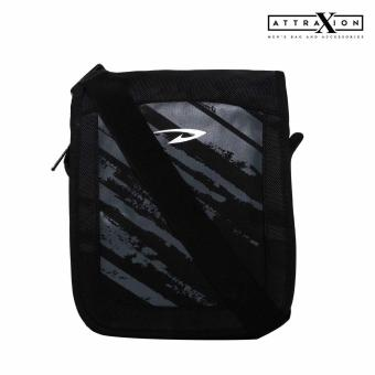 Attraxion Podrick Sling Crossbody Bag for Men (Black)