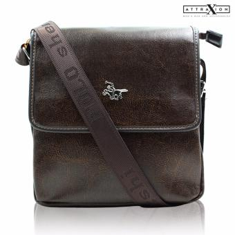 Attraxion Polo - 344 Sling Crossbody Bag for Men (Brown)