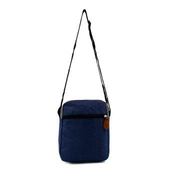 Attraxion Spencer - 1215-1 Sling Crossbody Bag for Men Gray Multicolored (Navy Blue) - 3