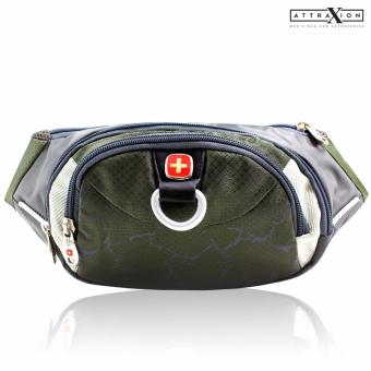 Attraxion Swiss Gear - SA0816 Waist Belt Bag for Men (Green) Price Philippines