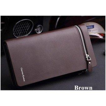 Authentic Korean Curewe - Men's Leather Wallet - (COFFEE BROWN) - 5
