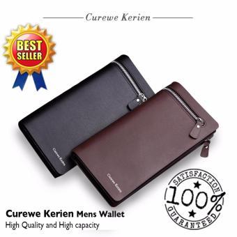 Authentic Korean Curewe - Men's Leather Wallet - (COFFEE BROWN) - 3