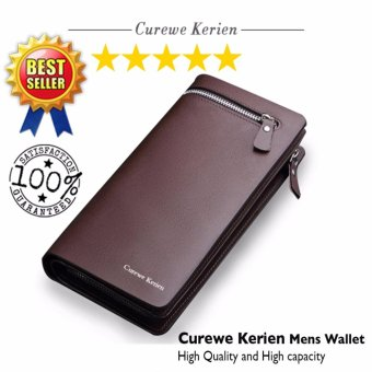 Authentic Korean Curewe - Men's Leather Wallet - (COFFEE BROWN)