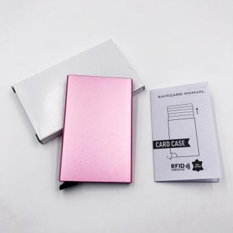 Automatic Pop Up RFID Blocking SafeCard Case (Pink) - 2