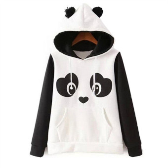 Autumn 2016 Korean Winter Cute Zipper Panda Plush Batwing SleeveFemale Students Outwear Hoodies Plus Size - Intl Price Philippines