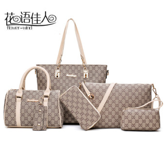 Autumn and Winter new different size bags women's bag (White)