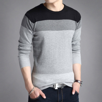 Autumn men's long-sleeved t-shirt (803 gray)