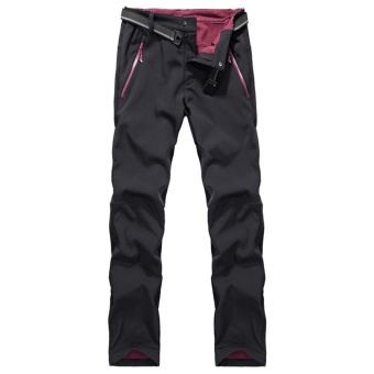 Autumn Men's Thick Thermal Waterproof Windproof Outdoor Hiking Camping Cycling Pants(Black) - intl - 2