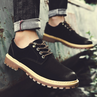 Autumn New style Korean-style casual shoes (Black)