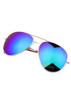 Aviator Metal Sun Glasses Golden Frame