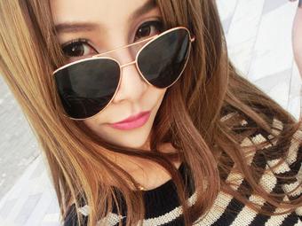 Aviator UV Protection Sun Glasses Unisex Goggle Golden Frame