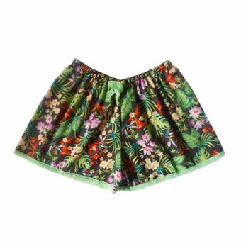 Ayla Intimates Leafy Prints Women's Boxer Shorts (Multicolor)