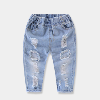 Baby cowboy men and women children's washed tide pants jeans