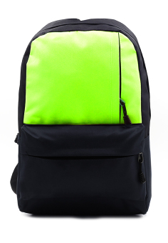 Bachelor Casual Daypack Backpack (Black/Neon Green)