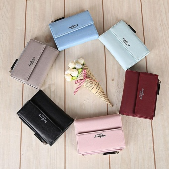 Baellerry Stylish PU Leather Card Holder Short Wallet Coin Purse for Women - intl - 3