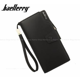 Baellerry Women Fashion Elegant Long Button Wallet Clutch Purse Black