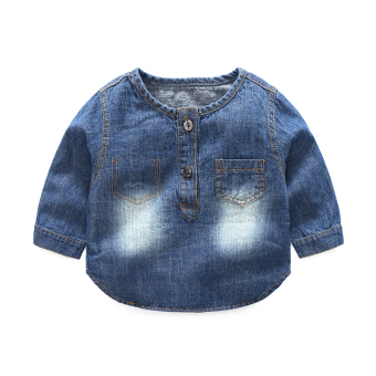 Baobao autumn long-sleeved newborns boy's autumn Top T-shirt