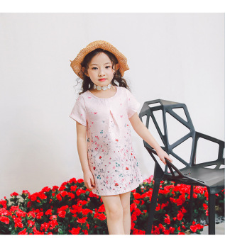 Baobao Korean-style New style children's beach skirt dress