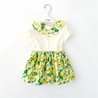 Baobao New style short sleeved infants children dress skirt