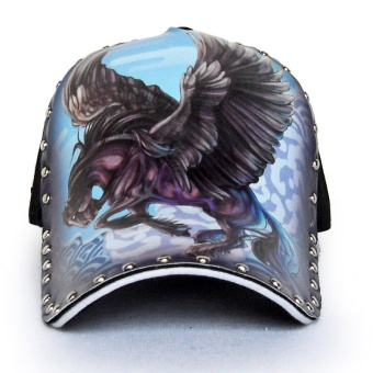 Baseball cap, gentleman, illustrations, pegasus design,personality, fashion, the original, hat, hat - intl Price Philippines
